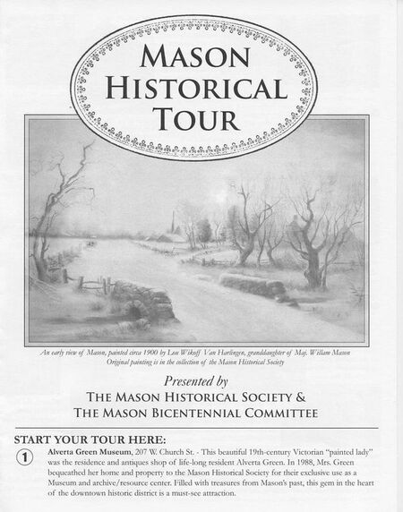 Printed guide to the Mason Historical Tour